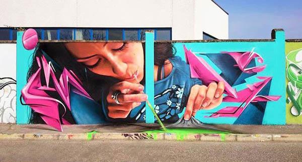 Amusing Street Art by Caiffa Cosimo
