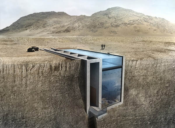 Casa Brutale: Most Stunning House Embedded in Cliff