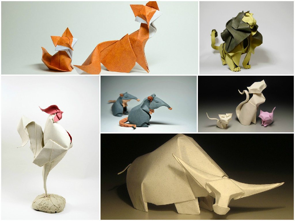 Amazing Curved Origami Animal Created By Using Wet Folding Technique