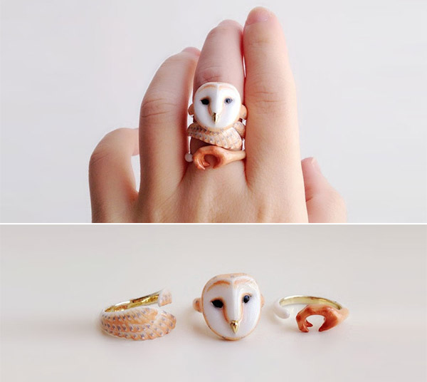 Adorable 3 Pieces Animal Rings