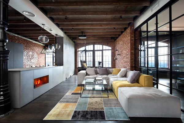Unusual Transparent Loft in Kiev, Ukrainian