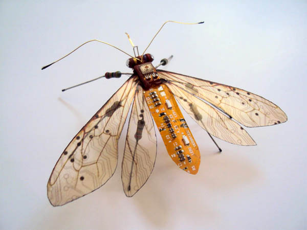 Computer Component Bugs: Beautiful Insects Built from Discarded Computer Circuit Boards