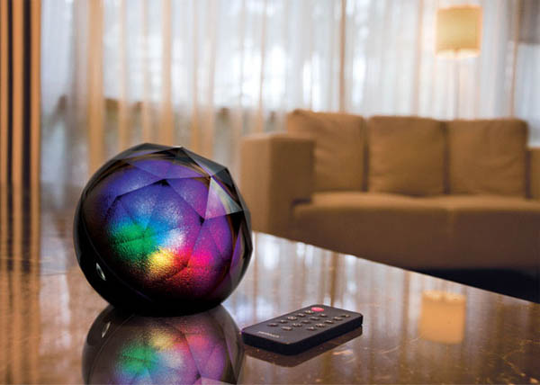 Yantouch Diamond:Portable 3-in-1 Wireless Bluetooth Speaker, Light and Alarm