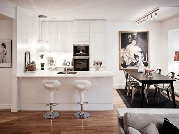 Lovely Swedish Apartment with Delightful Decoration