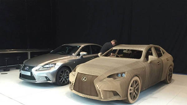 World First Origami Car: Life Size Lexus Car Made Out of Cardboard