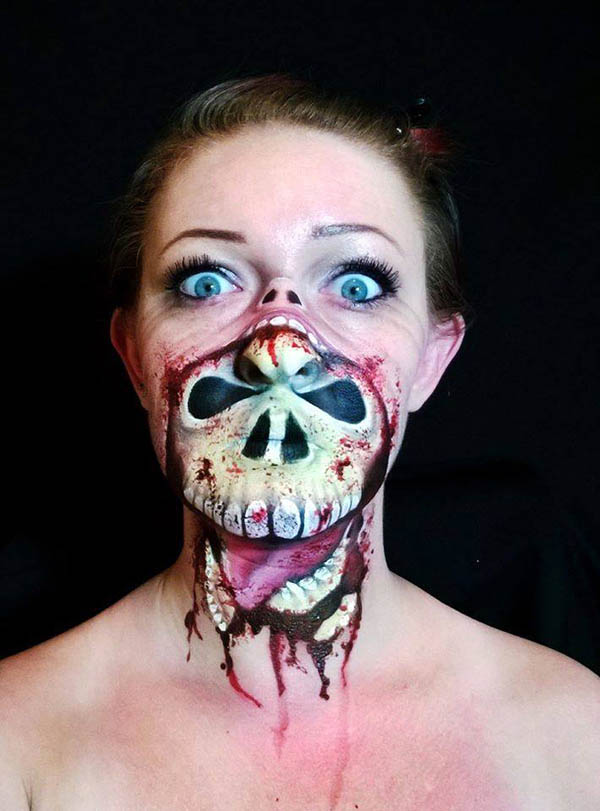 Incredibly Creepy Halloween Makeup by Nikki Shelley