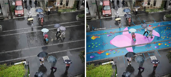 Delightful Water-Activated Street Murals in Seoul