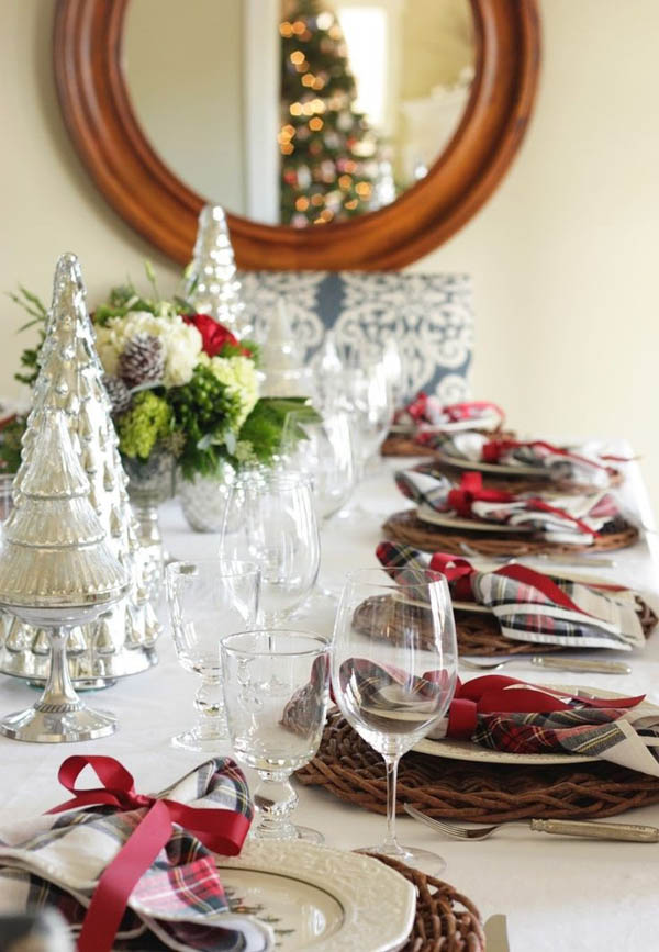 55 Gorgeous Christmas Table Setting Ideas Design Swan