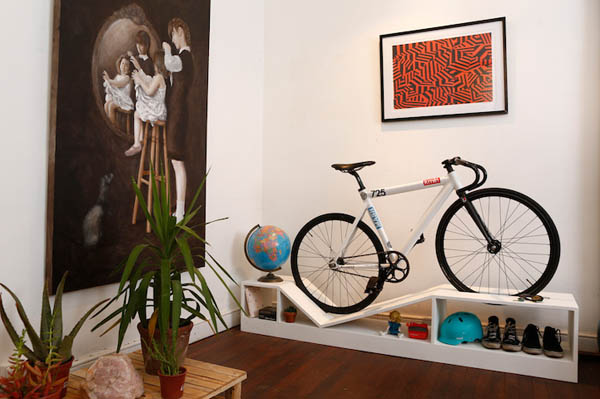 Multifunctional Furniture Double as Bike Rack for City Dweller