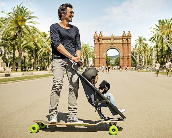 Crazy or Creative? Longboardstroller, Part Longboard and Part Stroller