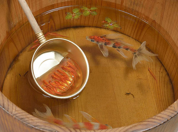 Goldfish Salvation: Realistic Goldfish Painted Between Layers of Resin