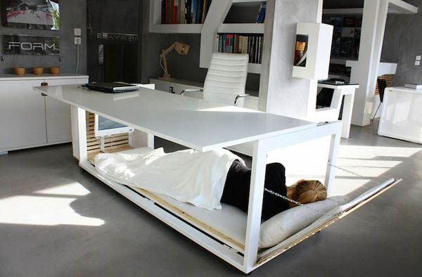 Nap Desk: a Convertible Desk for Cozy Office Napping