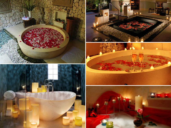 romantic bathtub ideas - 600×449