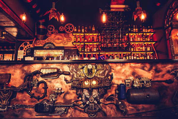 The World First Kinetic Steampunk Bar