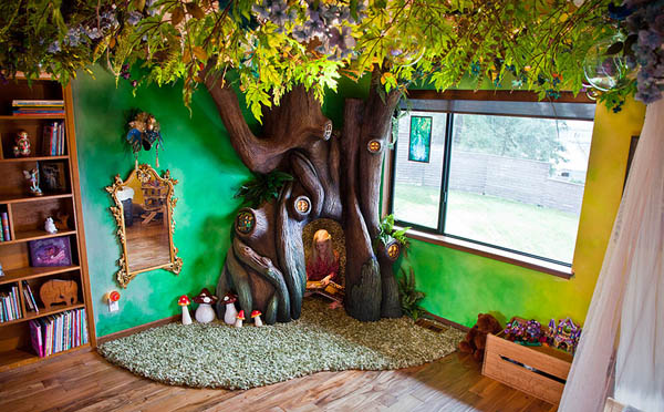 Dad Spends 18 Months to Create a Fairytale Looking Room for His Daughter