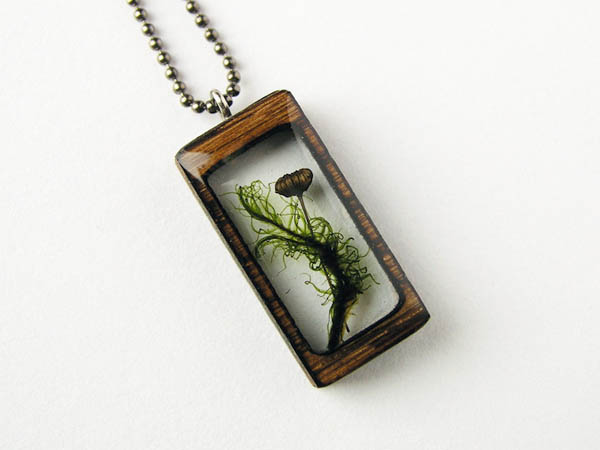 Nature Inspired Wooden Pendants by Erin LaRocque