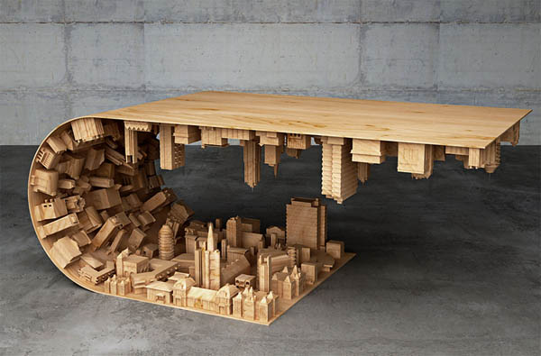 Inception-Inspired 'Wave City' Coffee Table