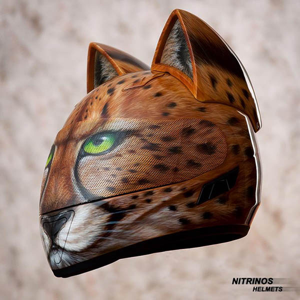 Super Cool Cat Ear Helmet Designed in Russian