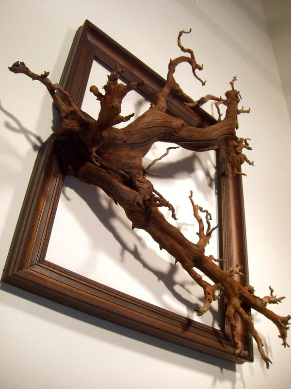 When Dead Tree Fused With Picture Frames, One of the Most Spooky Wall Decor Invented