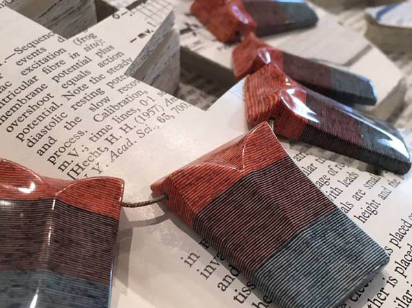 Jewellery Made out of Discarded Books