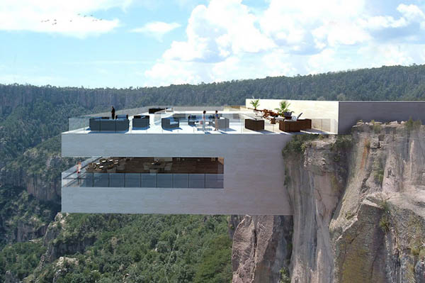 Cliff-side Cocktail Bar Overlooks Mexico's Basaseachic Falls