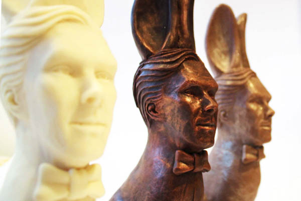 Cumberbunny: Easter Chocolate Bunny with Mr. Cumberbatch's Head Attached