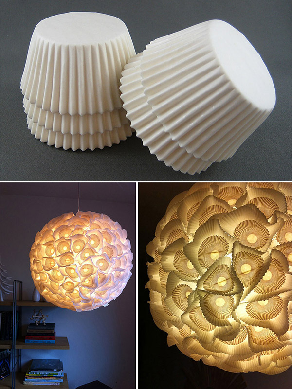 20 Fantastic Recycled and Upcycled Lamps And Chandeliers Ideas