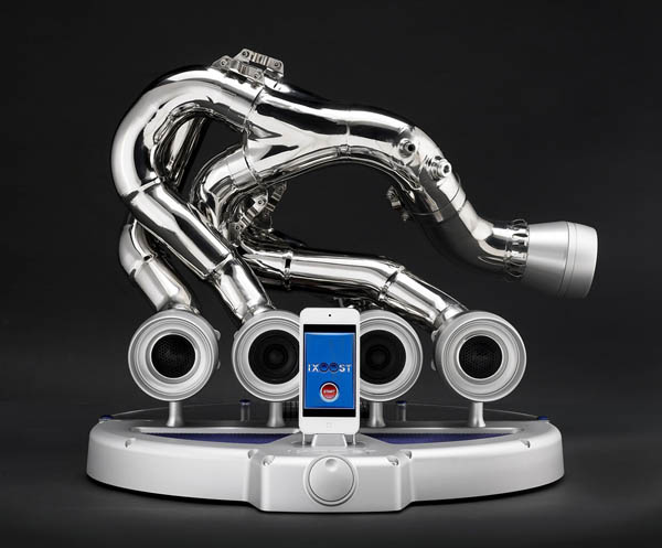 iXOOST: Exhaust Music Dock Inspired From Racing