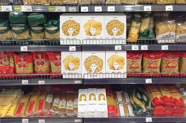 Pasta Hair: Creative Concept Pasta Packaging Design