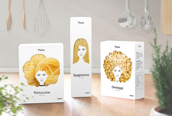 Pasta Hair: Creative Concept Pasta Packaging Design