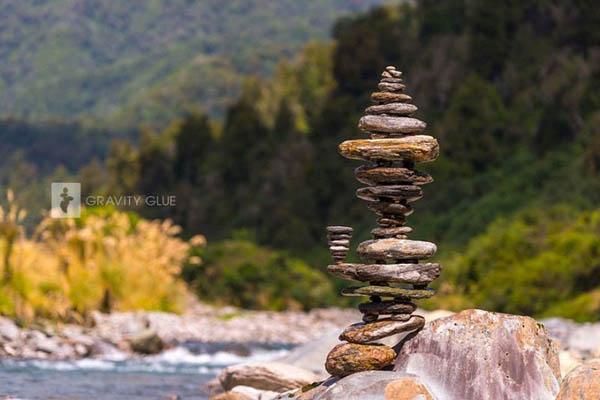 Gravity-Defying Balanced Rock Tower