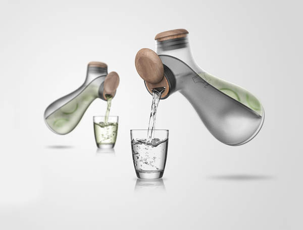 Twin Carafe: Two Drink from One Bottle