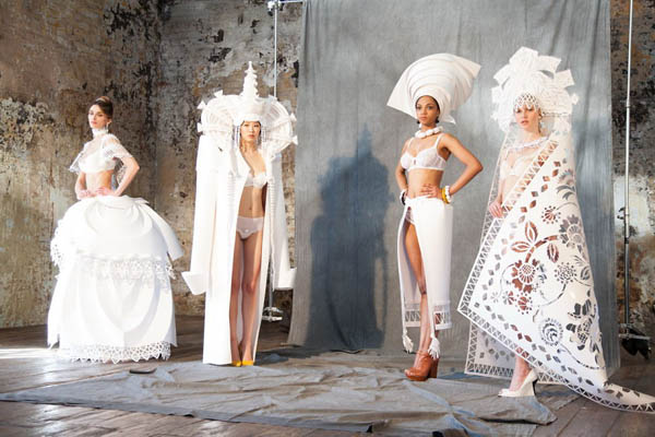 Gorgeous Paper Wedding Dresses by Asya Kozina