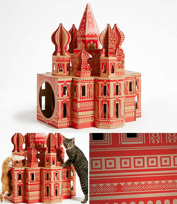 Landmark Playhouse: Cardboard Cat Dwellings Replicate 7 World's Famous Architectural Landmarks