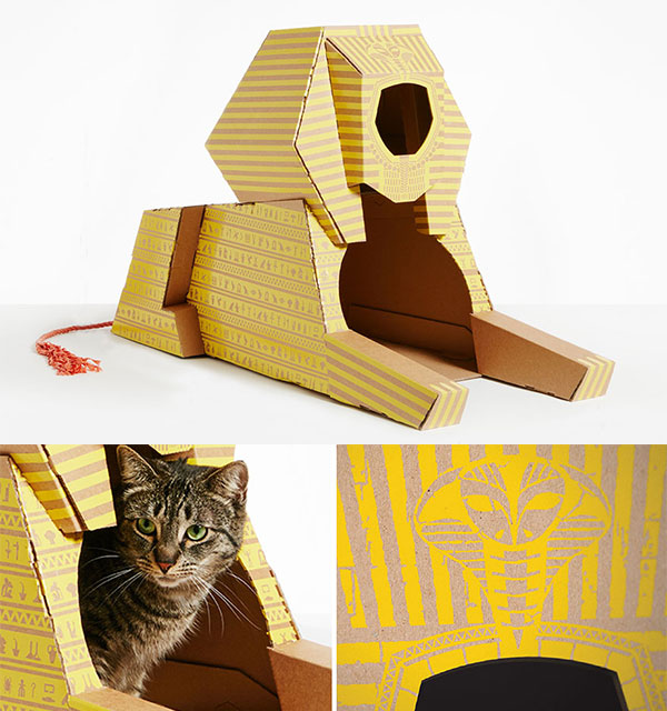 Landmark Playhouse: Cardboard Cat Dwellings Replicate 7 World's Famous Architectural Landmarks