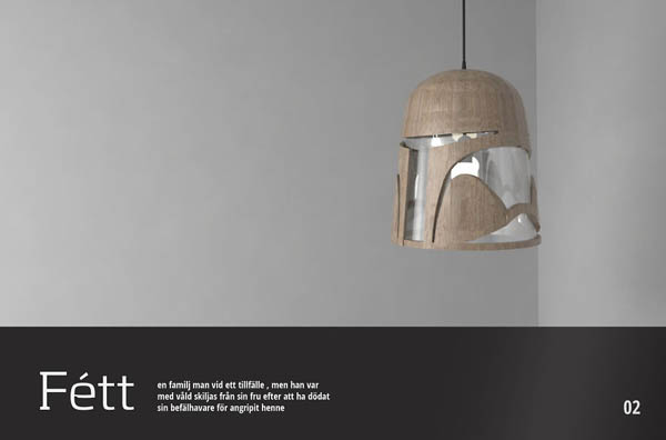 Cool Star War Inspired Light Fixtures by Eyal Rosenthal