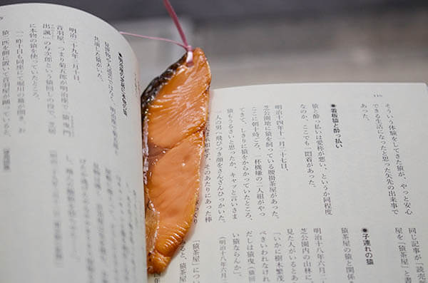 Unusual Lifelike Fake Food Bookmarks from Japan