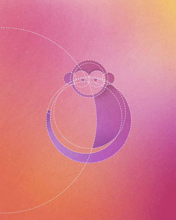 13 Animals Made From 13 Circles by Dorota Pankowska