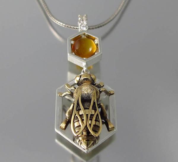 Honeycomb Inspired Jewellery by WingedLion, Sweet Than Honey!