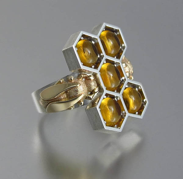 Honeycomb Inspired Jewellery by WingedLion, Sweet Than Honey!