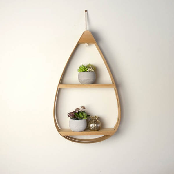 Mid-Century Teardrop Shelves by The Wavertree Co