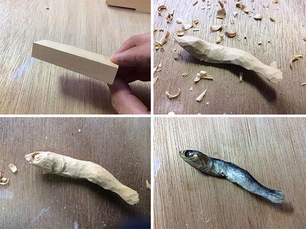 Super Realistic Wooden Food Sculpture