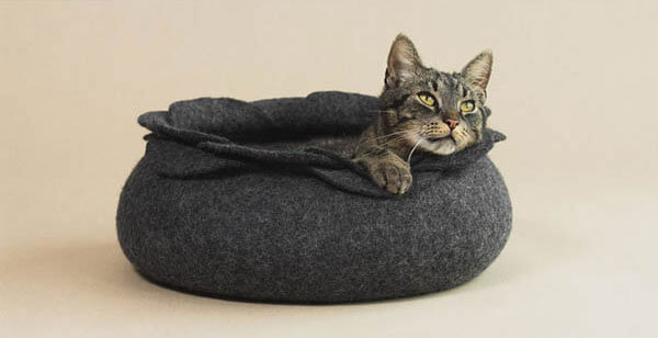contemporary cat bed and cat cave by elevele design swan. Black Bedroom Furniture Sets. Home Design Ideas