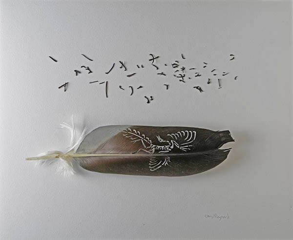 Stunning Art of Sculpting with Feathers