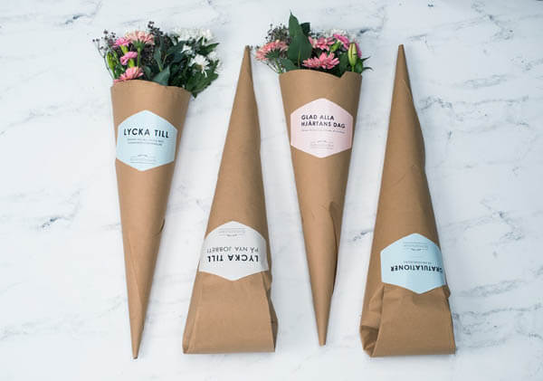 Brown Paper Flower Packaging Which Doesn't Look Down-to-earth