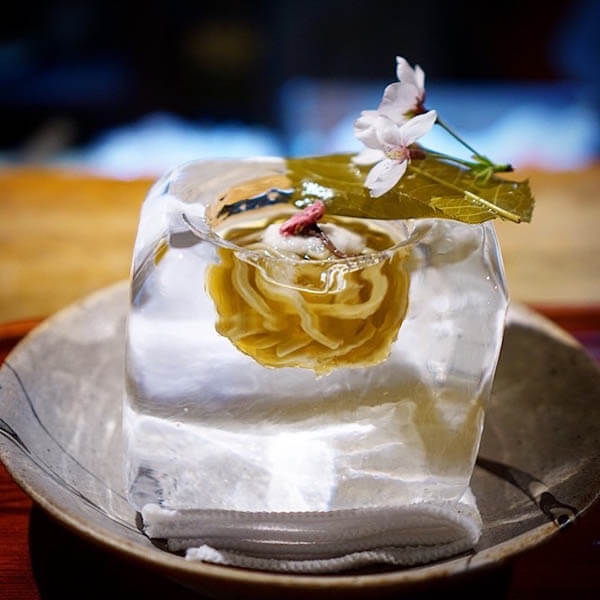 Mouth-watering Japanese Undo in Ice Bowls