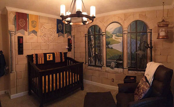 Harry Potter Themed Nursery Room