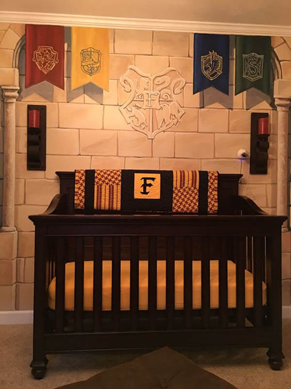 Harry Potter Themed Nursery Room Design Swan