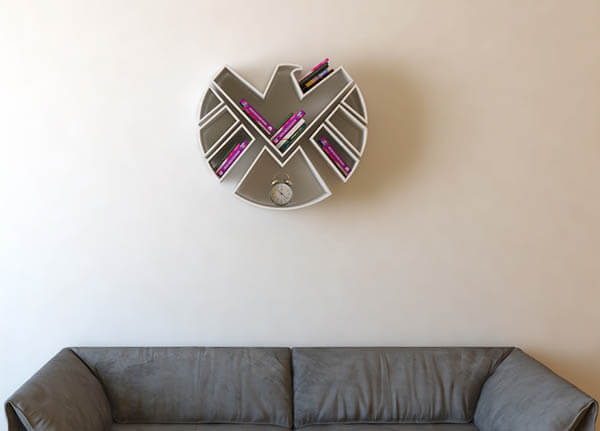 Iconic Superhero Logo Inspired Shelves