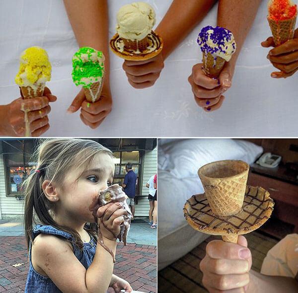 Melting Ice Cream Simple Wallpaper Designs: Drip Drop: An Edible Icecream Ring Prevents Melting